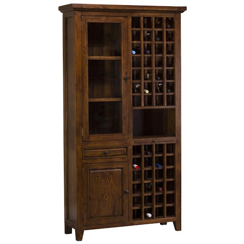 Morris Home Furnishings Tuscan Retreat Old World Styled Tall Wine Storage