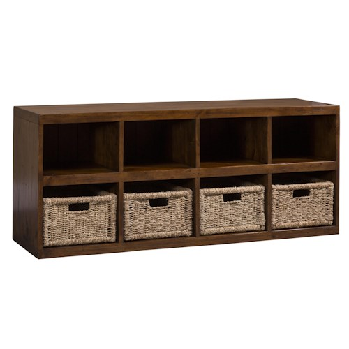 Hillsdale Tuscan Retreat Eight Shelf Storage Cabinet with Baskets