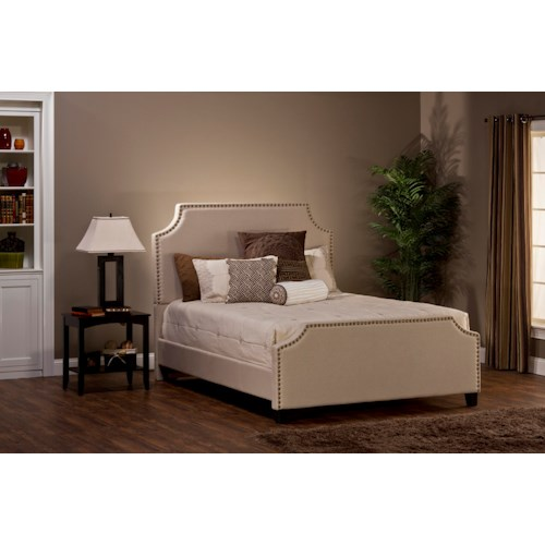 Hillsdale Upholstered Beds Dekland Queen Bed with Nail Head Trim