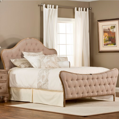Hillsdale Upholstered Beds Jefferson King Bed with Tufting and  Without Rails