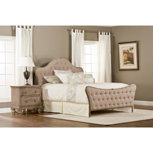 Hillsdale Upholstered Beds Jefferson King Bed with Tufting and  WithRails