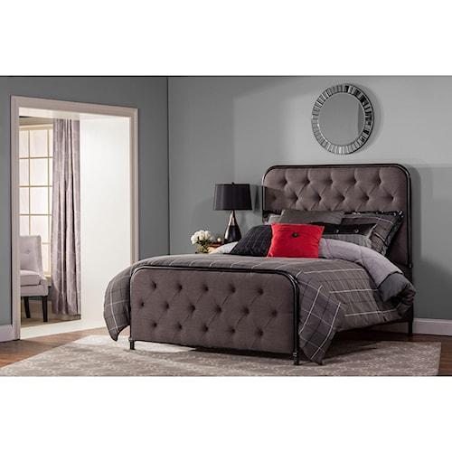 Hillsdale Upholstered Beds King Salerno Bed Set with Rails
