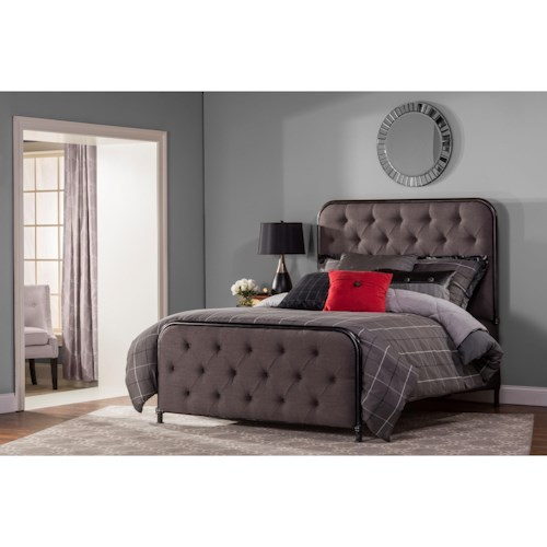 Hillsdale Upholstered Beds Queen Salerno Bed Set with Rails