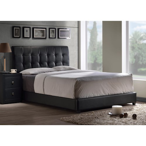 Hillsdale Upholstered Beds Lusso Full Bed Set with Tufting