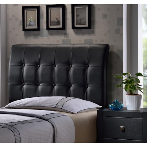 Hillsdale Upholstered Beds Lusso Twin Headboard with Rails and Tufting