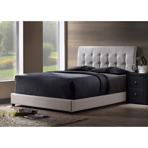 Hillsdale Upholstered Beds Lusso Queen Bed Set with Tufting