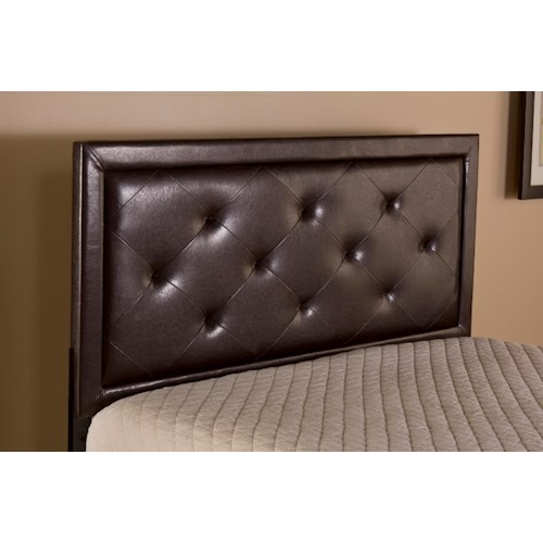 Hillsdale Upholstered Beds Becker King Rails and Headboard with Button Tufting