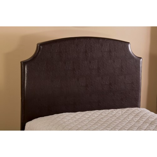 Hillsdale Upholstered Beds Lawler Full Headboard with Rails and Scooped Edges