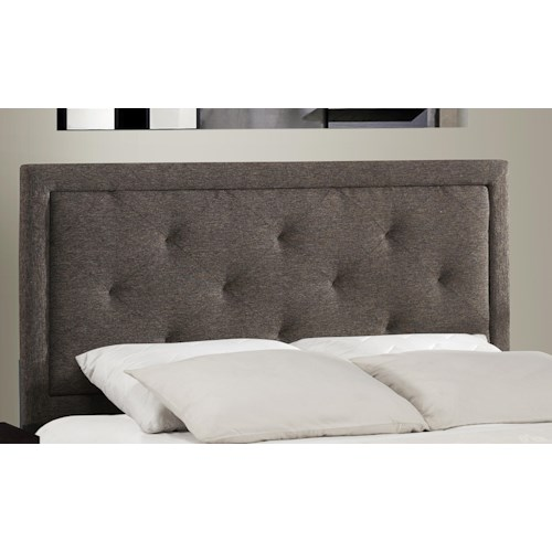 Hillsdale Upholstered Beds Becker Twin Rails and Headboard with Button Tufting
