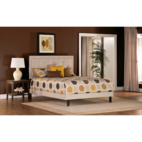 Hillsdale Upholstered Beds Becker Queen Bed with Button Tufting
