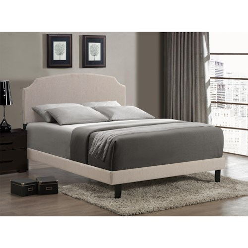 Hillsdale Upholstered Beds Lawler Twin Bed with Scooped Arched Headboard