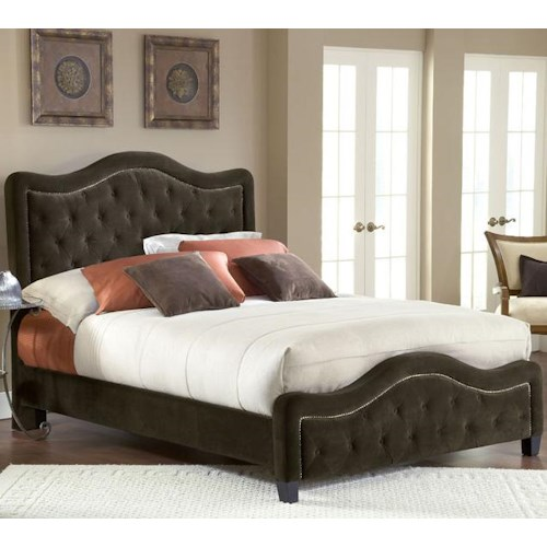Hillsdale Upholstered Beds Queen Trieste Fabric Bed w/ Nailhead Trimming