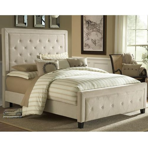 Hillsdale Upholstered Beds Kaylie King Bed Set with Tufting
