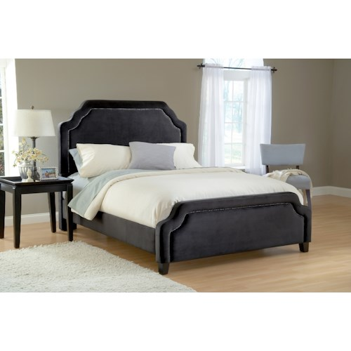 Hillsdale Upholstered Beds California King Carlyle Bed Set with Rails