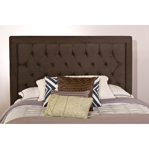 Hillsdale Upholstered Beds Kaylie King Headboard with Rails and Tufting