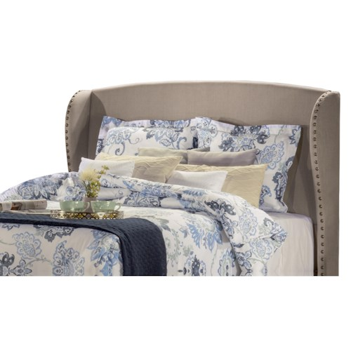 Hillsdale Upholstered Beds Wingback King Headboard with Frame