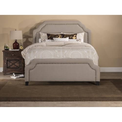 Hillsdale Upholstered Beds Queen Carlyle Fabric Bed w/ Nailhead Trimming