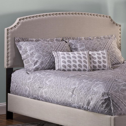 Morris Home Furnishings Upholstered Beds Full Lani Upholstered Headboard w/ Nail Head Trimming