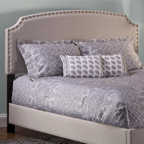 Morris Home Furnishings Upholstered Beds Queen Lani Upholstered Headboard w/ Nail Head Trimming