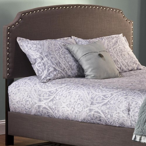 Morris Home Furnishings Upholstered Beds King Lani Upholstered Headboard w/ Nail Head Trimming