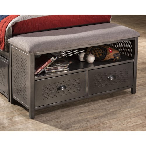 Morris Home Furnishings Urban Quarters Contemporary Metal Footboard Bench