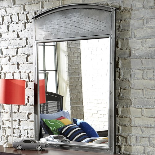 Morris Home Furnishings Urban Quarters Contemporary Metal Mirror