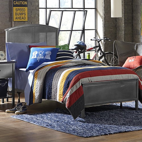 Morris Home Furnishings Urban Quarters Contemporary Full Panel Bed Set with Rails