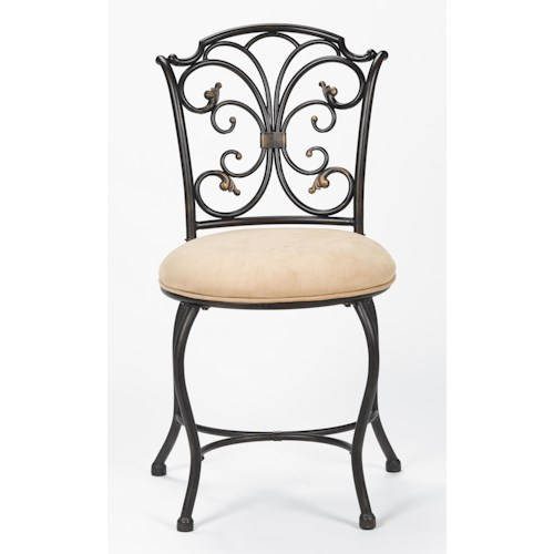 Morris Home Furnishings Vanity Stools Sparta Vanity Stool with Scrollwork