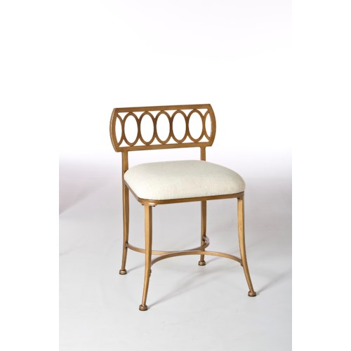 Morris Home Furnishings Vanity Stools Canal Street Vanity Stool with Oval Motif
