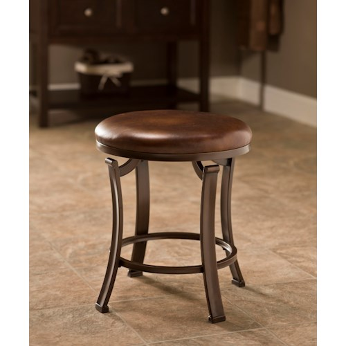 Hillsdale Vanity Stools Hastings Backless Vanity Stool with Flat Feet