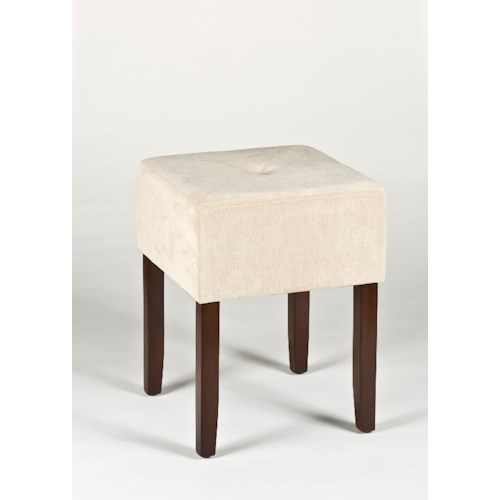 Morris Home Furnishings Vanity Stools Bellamy Backless Vanity Stool with Tapered Feet