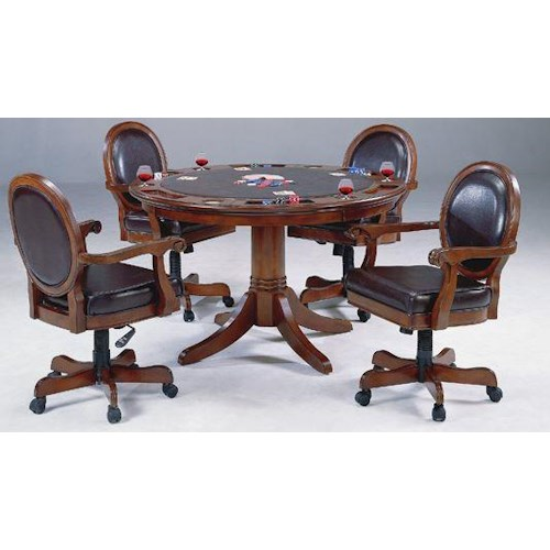 Hillsdale Warrington 5 Piece Game Set with Reversible Table Top