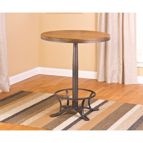Hillsdale Westview Bar Height Bistro Table w/ Metal Base
