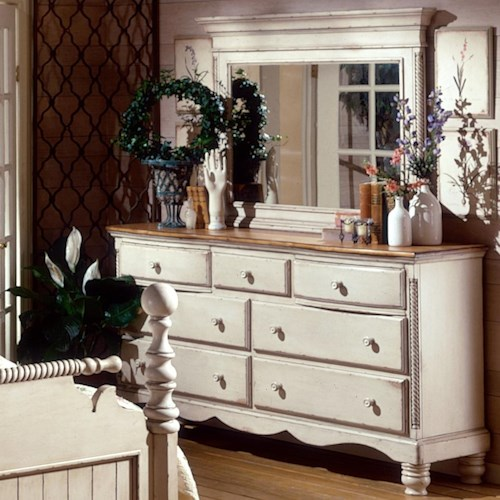 Morris Home Furnishings Wilshire Dresser w/ Mirror