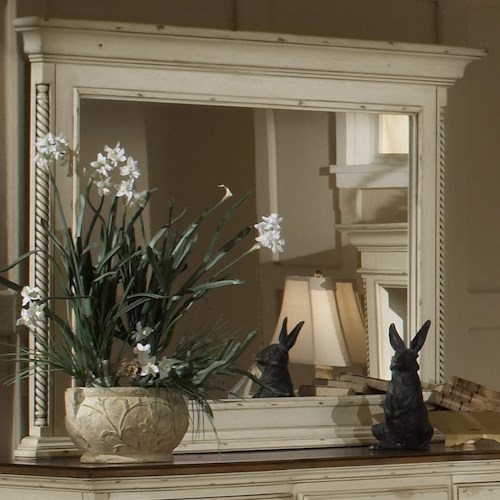 Morris Home Furnishings Wilshire Dresser Mirror w/ Roped Columns
