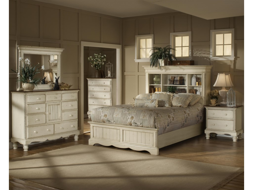 Shown in Room Setting with Mule Chest, Mirror, Chest and Bookcase Bed
