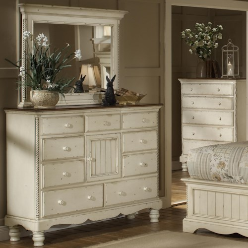 Morris Home Furnishings Wilshire Mule Chest w/ Mirror