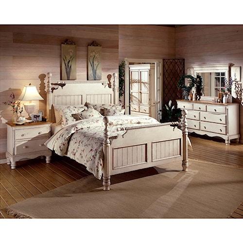 Morris Home Furnishings Wilshire Queen Headboard and Footboard Bedroom Group