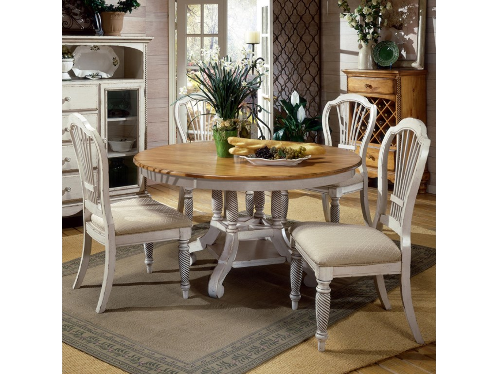 Shown with Round Two-Tone Leaf Dining Table