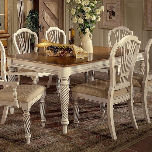 Morris Home Furnishings Wilshire Rectangle Two-Tone Double Leaf Dining Table