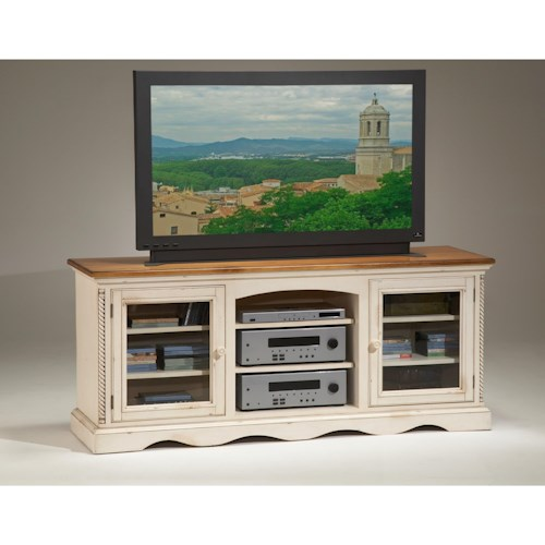 Morris Home Furnishings Wilshire Two-Toned Entertainment Console