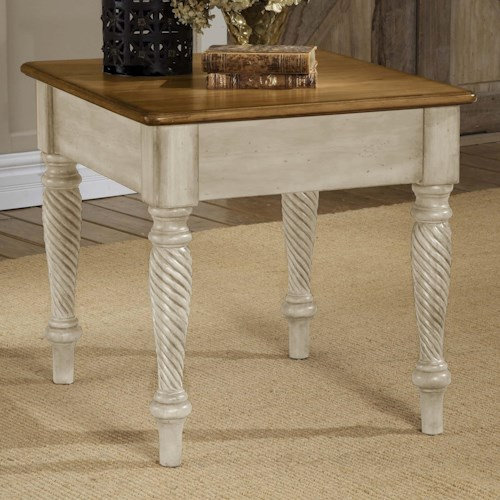 Morris Home Furnishings Wilshire Two-Tone Charming End Table