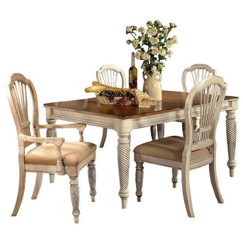 Morris Home Furnishings Wilshire 5-Piece Rectangle Dining with Side Chair