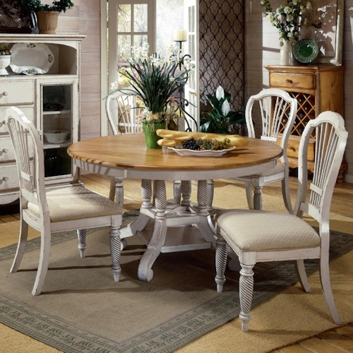 Hillsdale Wilshire 5 Piece Round Dining Table Set