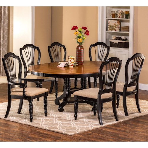Hillsdale Wilshire 7-Piece Round Dining Set with Side Chairs