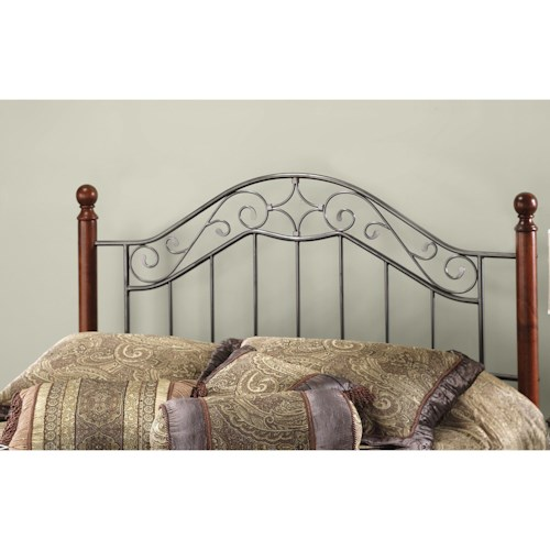 Hillsdale Wood Beds King Martino Headboard with Rails