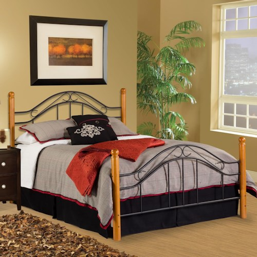 Hillsdale Wood Beds Queen Bed Set - Rails Not Included