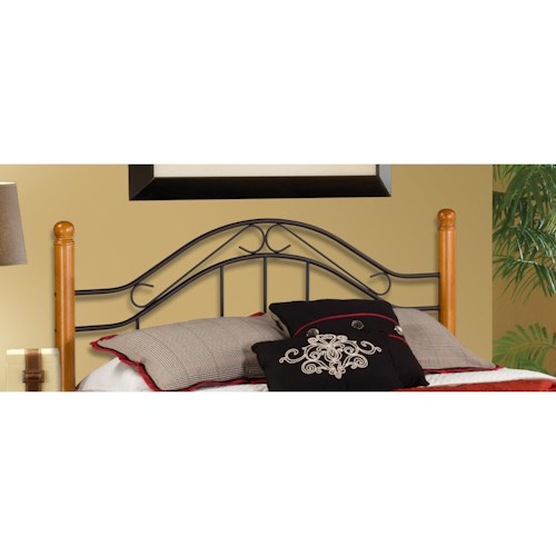 Hillsdale Wood Beds King Headboard with Rails