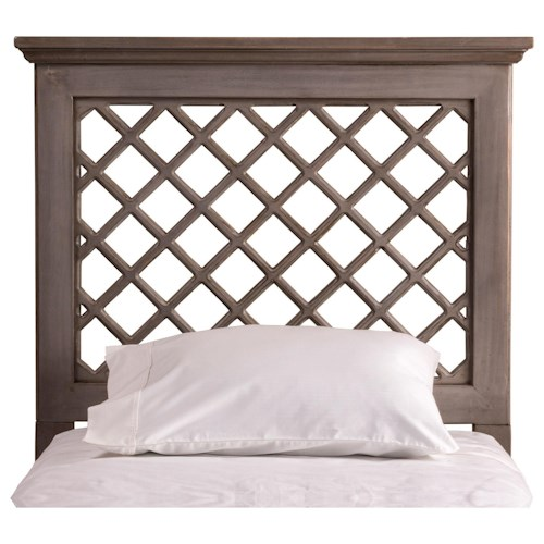 Hillsdale Wood Beds King Headboard and Rails with Trellis Design