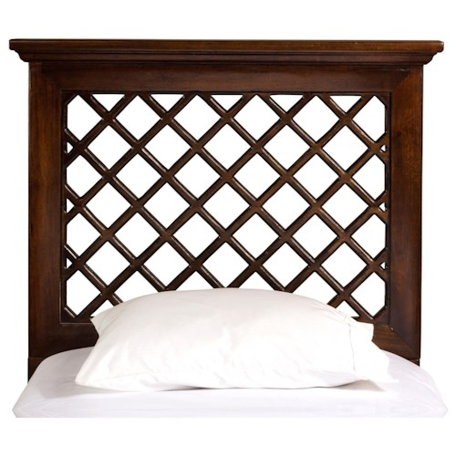 Hillsdale Wood Beds Twin Headboard and Rails with Trellis Design
